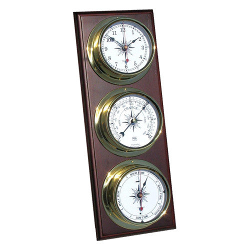 Omni Nautical 3-Piece Weather Station - Clock/Baro/Tide - Trintec Industries Inc.
