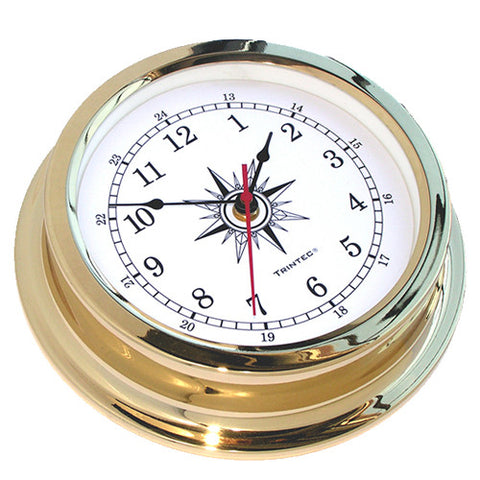 Solaris Brass Marine Clock - Trintec Industries Inc.