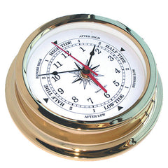 Solaris Brass Marine Time & Tide Clock - Trintec Industries Inc.