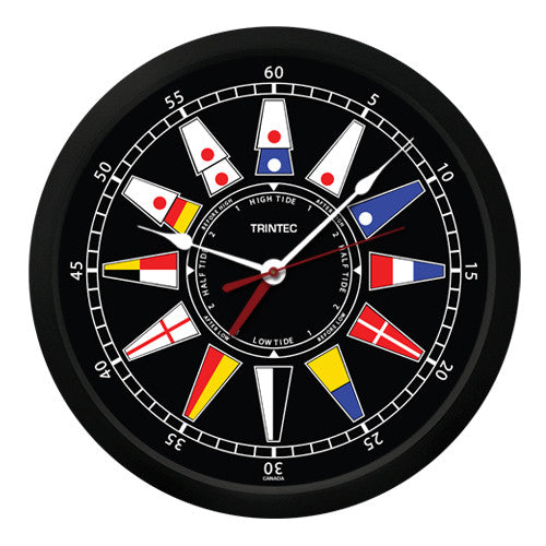 "10"" Nautical Flag Time & Tide Clock"