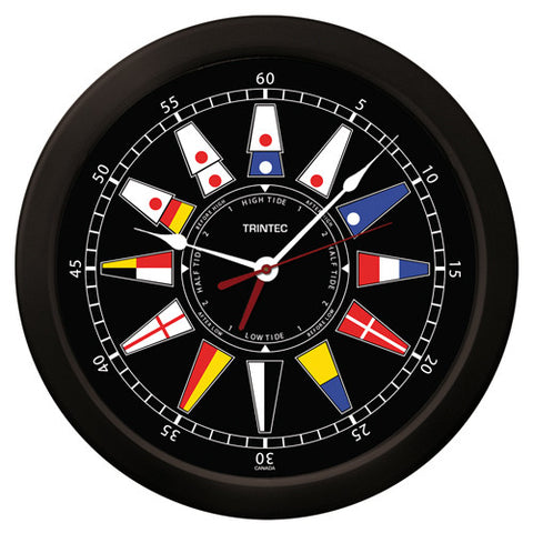 "14"" Nautical Flag Time & Tide Clock - Trintec Industries Inc."