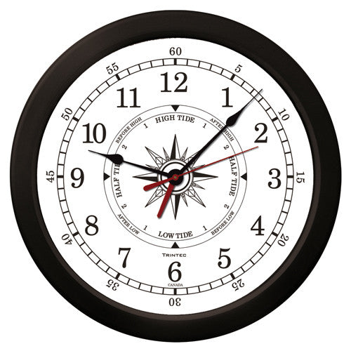 "14"" Atlantic Marine Time & Tide Clock - Trintec Industries Inc."