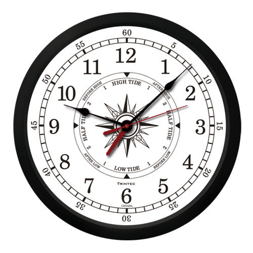 "10"" Atlantic Time & Tide Clock-W"