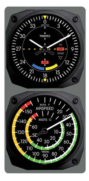 Classic VOR/Airspeed Clock & Thermometer Set