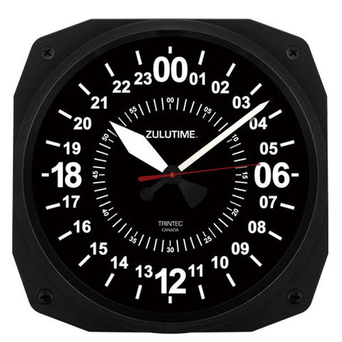 "10"" ZULUTIME™ 24-Hour Instrument Style Clock - Trintec Industries Inc."