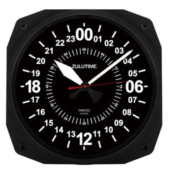 "10"" ZULUTIME™ Instrument Style 24-Hour Clock"