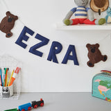 A Teddy bear custom name bunting /garland /wall hanging, custom name garland / bunting