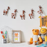 Giraffe wall hanging, garland, bunting, safari nursery, neutral nursery, baby decor, mobile, three felt giraffes