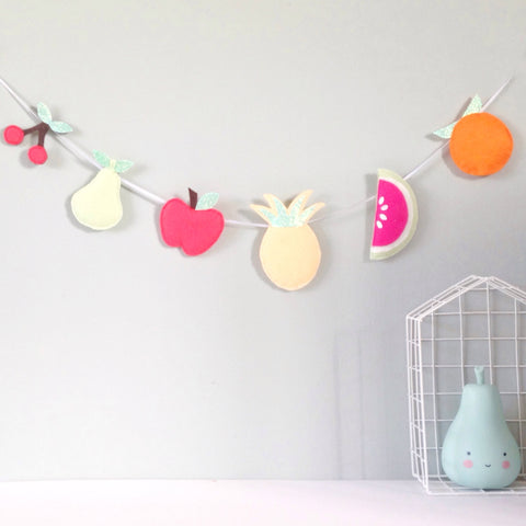 A fruit garland made from felt