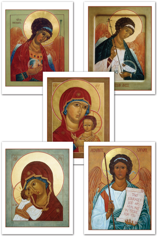 Greeting Cards - Mother of God and the Angels