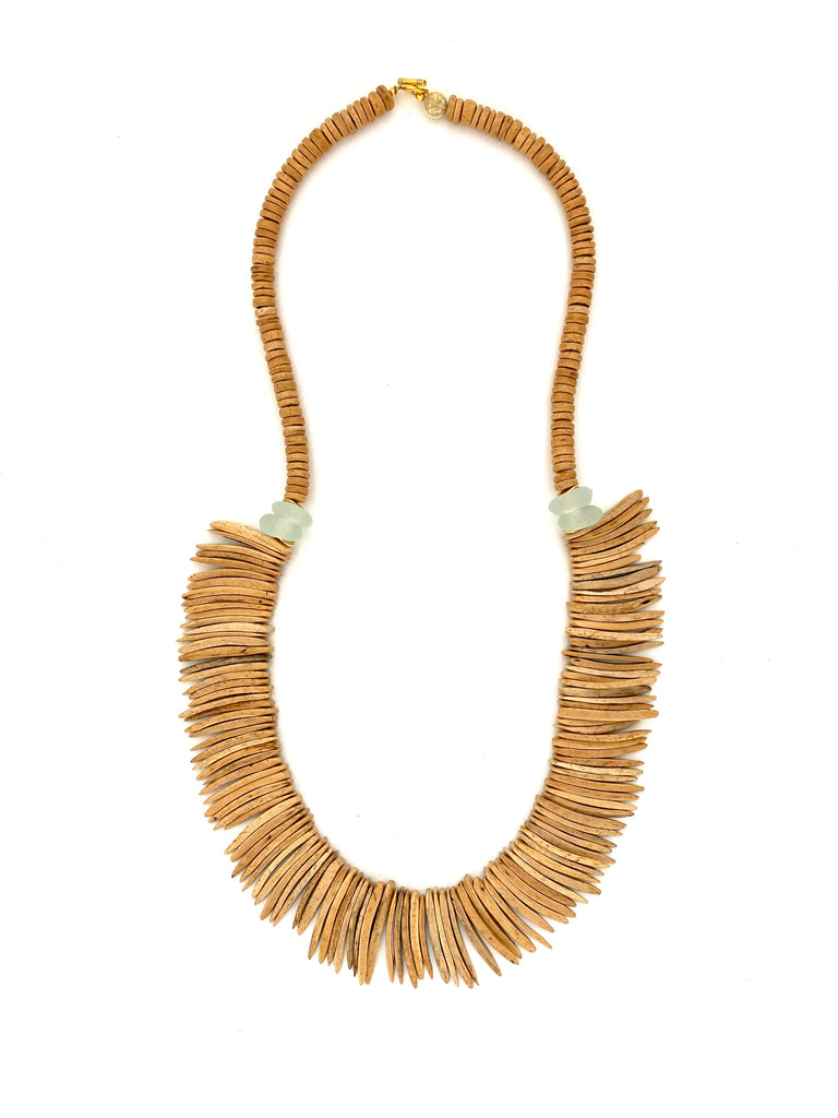 Long Coconut Wood Necklace