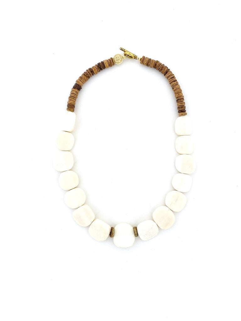 Short Bone Bead Necklace