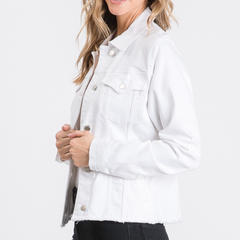 Optic White Jean Jacket