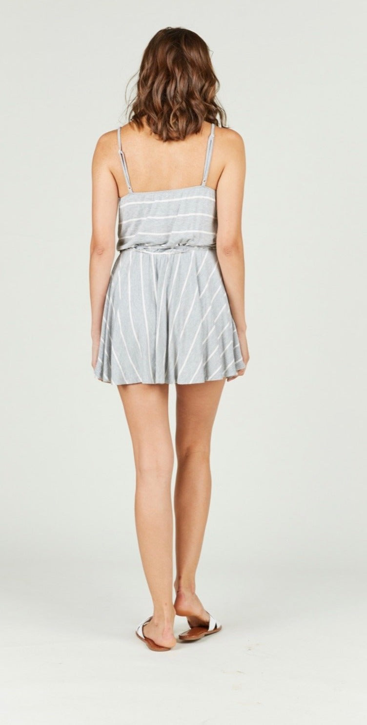 Striped Front Tie Dress
