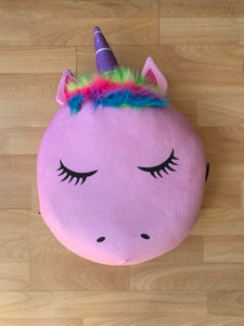 Plush Squishy Squad Gumball Scented Pink Unicorn Pillow