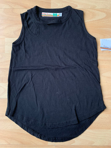 Slash neck burnout kids tank