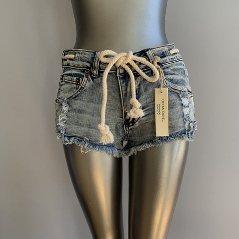 Low-Rise Jean Shorts