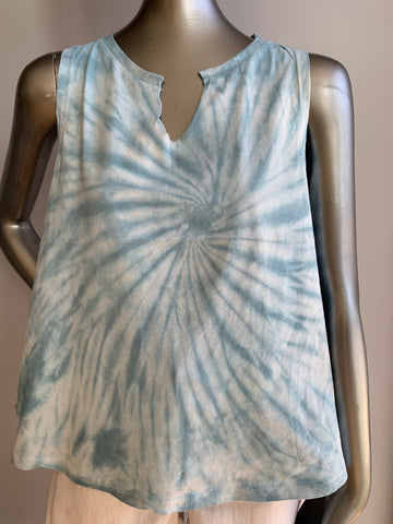 Tie Dye Slash Neck Muscle Tank