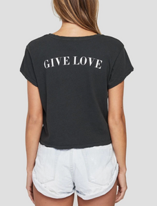 Give Love Crew Tee Vintage Black