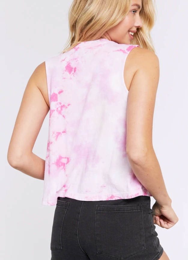 Love Is Answer Tie Dye Crop Tank
