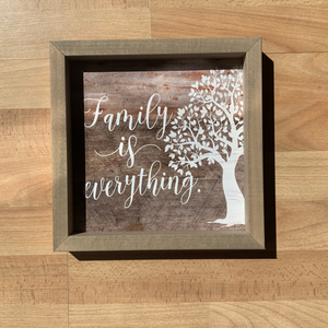 Family is Everything Wooden Wall Art
