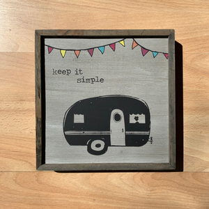 Keep it Simple Bungalow Wooden Wall Art