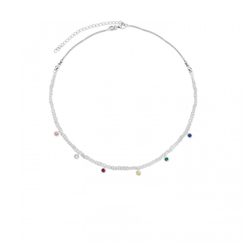 Colourful Pearls Choker