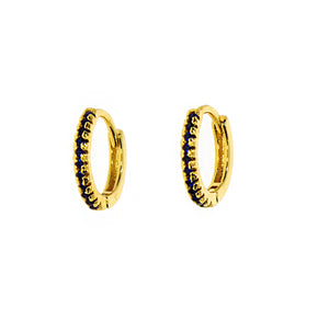 Dark Zirconia Hoops
