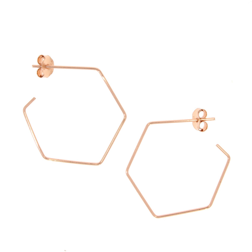 hexagon wire hoops