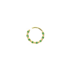 Green Dream Hoop Piercing
