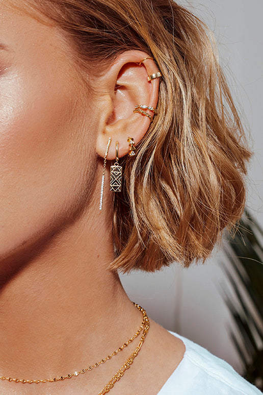 Sparkling Triangle Hoops
