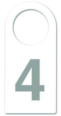Fitting Room Door Knob Tag| Tag| 5;Color| White w/ Grey Print