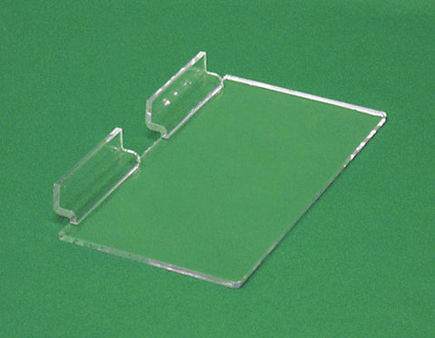 Acrylic Slatwall Shelf W/O Lip 8'' x 4''