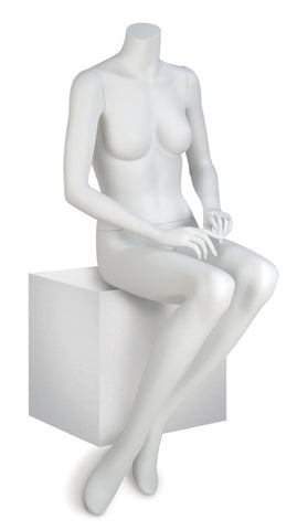 Eve Pose 3 White Seated Headless