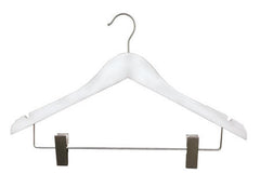 Flat Wood Suit Hanger w/ clips