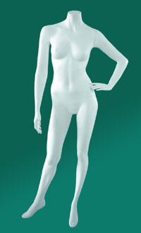 Headless Female Mannequin W/Calf & Sole Fittings Pose #3| Color| White