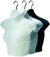 Ladies' Half Round Upper Torso Form| Color| White