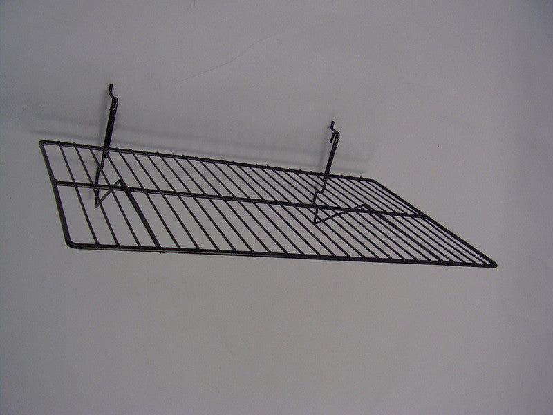 "Slatwall 24"" X 14"" Wire Shelf No Lip (6 Pack)"