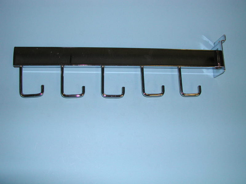 Slatwall Faceout Rect Tube 5 Hook