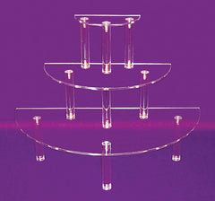 Three-Tiered Half-Round Shelves Large