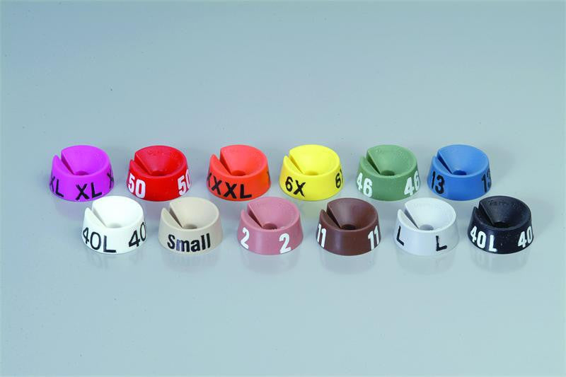Classic Markers W/ Numbers & Letters| Size| WP;Color| White W/Black Print