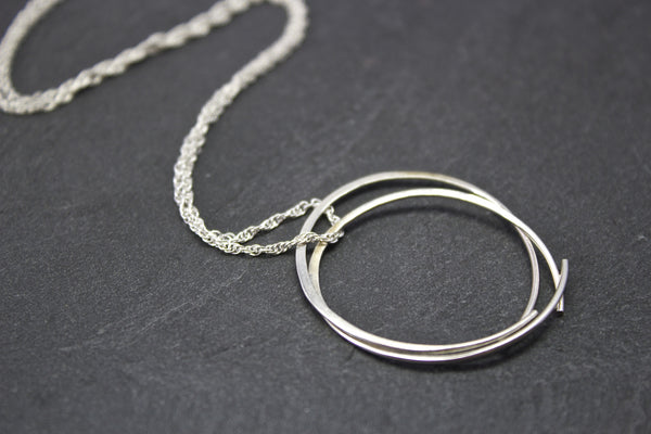 Pendant with two large circles