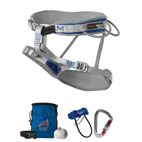 Men's Deluxe Mars Harness Climbing Package with FREE Chalk Sock