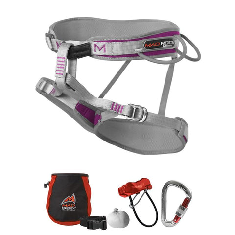 Women's Deluxe Venus 3.0 Harness Climbing Package with FREE Chalk Sock