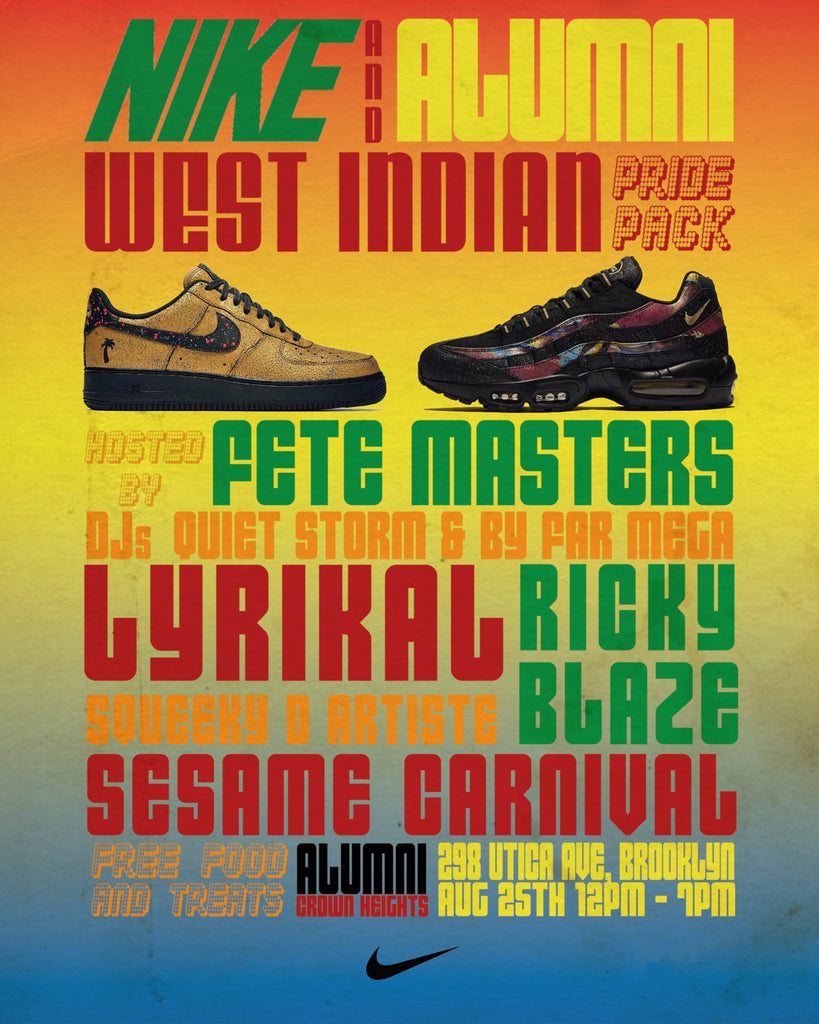 Nike West Indian Pride Pack Release Party at Alumni Crown Heights!