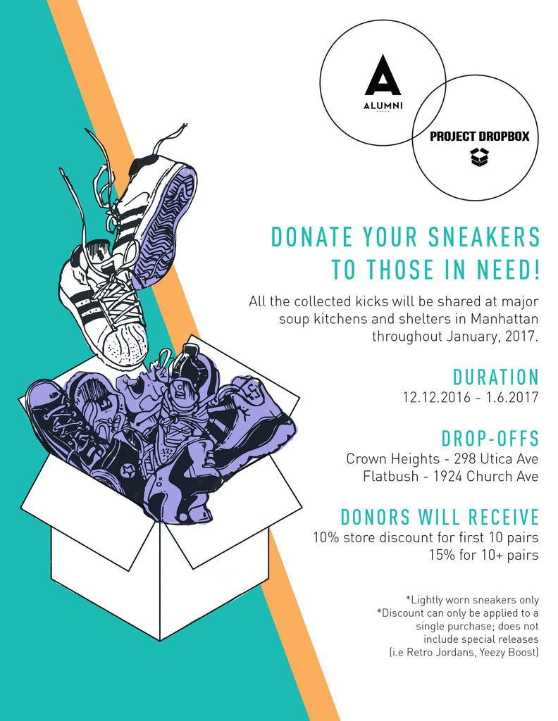 DEC 12TH - JAN 6TH: PROJECT DROPBOX SNEAKER DRIVE