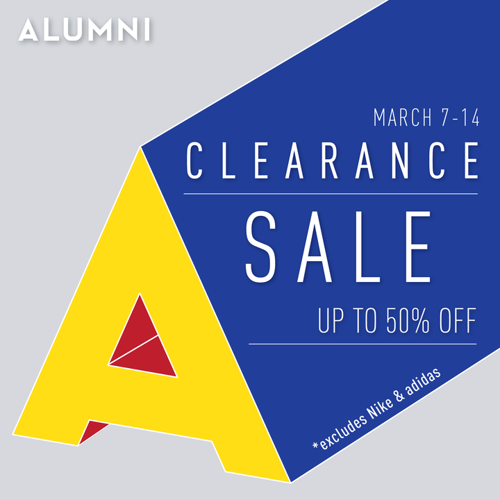 ALUMNI CLEARANCE SALE - MARCH 7TH - 14TH