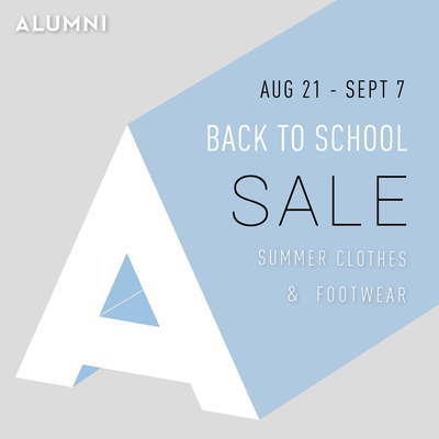 BACK-TO-SCHOOL SALE!
