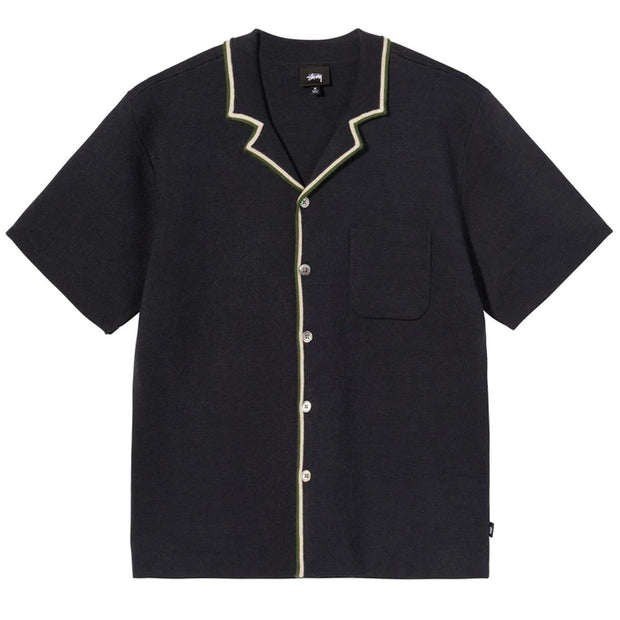 Stripe Edge Knit Shirt 'Navy'
