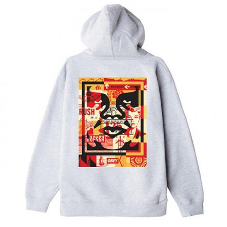 Obey 3 Face Collage Substainable 'Ash Grey'